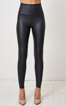 Black Faux Leather Leggings by love frontrow