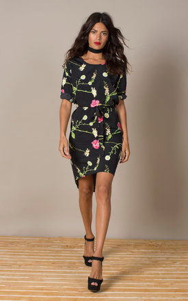 Chiquita Dress in Carnation and Daisy by Dancing Leopard