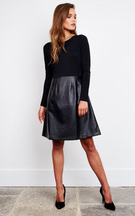 No Going Back - Double Take Dress (black) by Traffic People