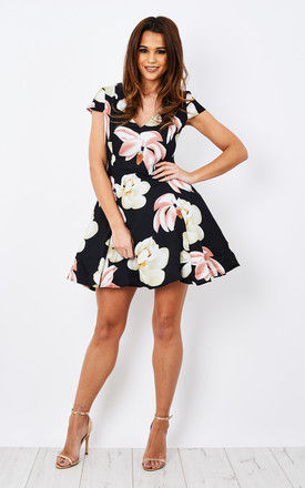 PINK FLORAL PROM DRESS by Glamorous