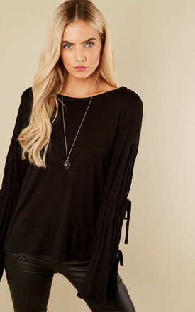 Black Bell Sleeved Top by Glamorous