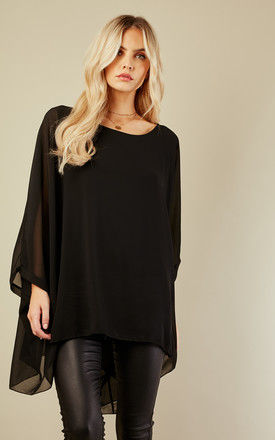 Black Batwing Top by Bella and Blue