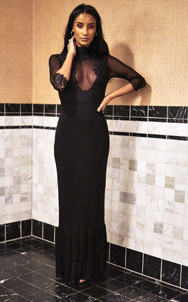 Noir Reversible Take a Bow Dress by Hot As Hell