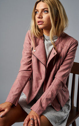ASH ROSE FAUX LEATHER BIKER JACKET by ONLY