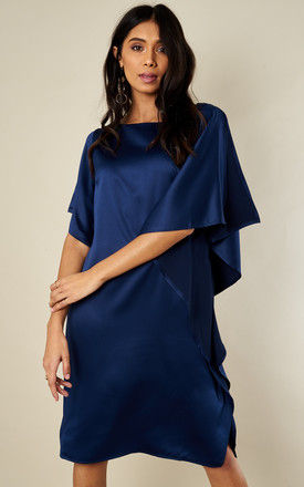NAVY RUFFLE SIDE DRESS by Bella and Blue
