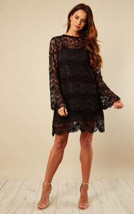 Black Lace Shift Dress by Bella and Blue