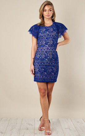 MINI LACE DRESS WITH FLUTTER SLEEVES by Endless Rose