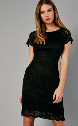 BLACK LACE OVERLAY DRESS by ONLY