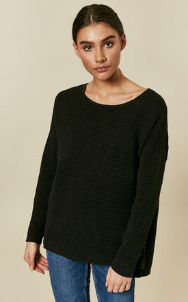 Black Long Sleeve Oversized Knit by Selected Femme