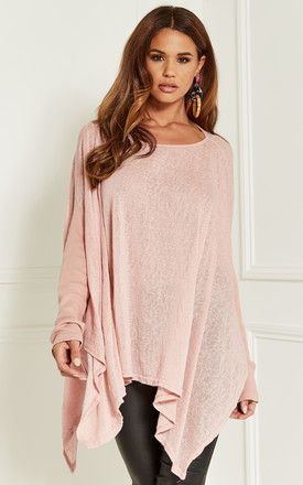 Dusty Pink Oversized Batwing Top by Bella and Blue