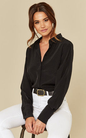 Black Long Sleeve Shirt by Pieces