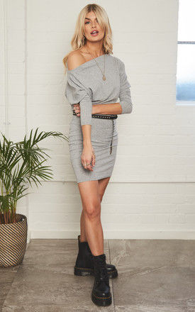 Lucy Off Shoulder Knit Dress by Never Fully Dressed
