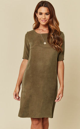 Ivy Green Shift Dress With Cut Out Back Detail by VILA