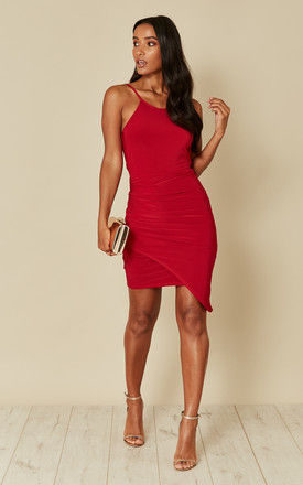 Red wrap skirt mini dress by Phoenix & Feather