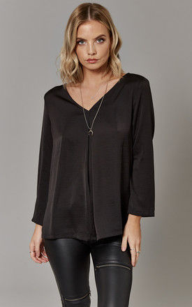 Black V-Neck Top by ONLY