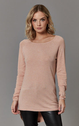 Mahogany Rose Long Sleeve Long Pullover Knit by ONLY
