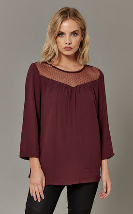 Port Royale Top With Mesh Front Detail by ONLY