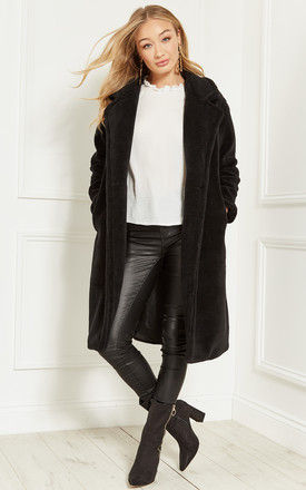 Black Teddy Coat by Bella and Blue