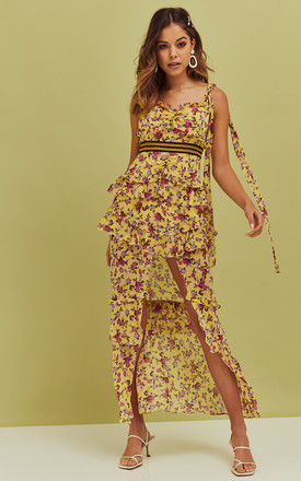 Maison Maxi Dress in Yellow Floral by For Love And Lemons