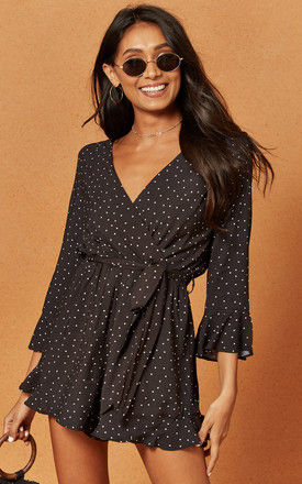 Harry Playsuit in Black Polka Dot by Charlie Holiday