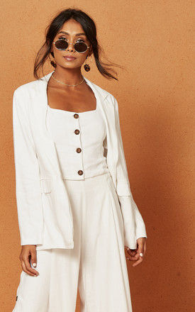 Bayview Jacket in White by Charlie Holiday