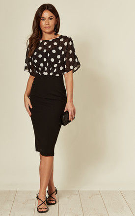 Autumn Batwing Spot Top Batwing Midi Dress by Girl In Mind