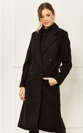 Longline Coat in Black by Bella and Blue