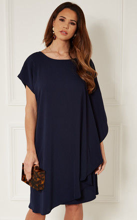 Navy Double Layer Dress by Bella and Blue
