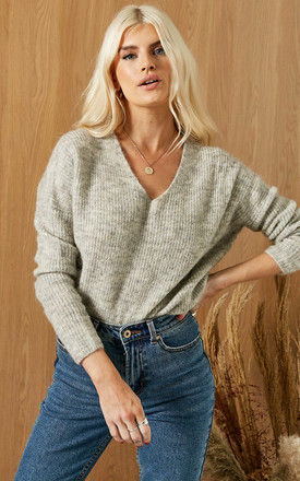 WOOL BLEND JUMPER IN LIGHT GREY by ONLY