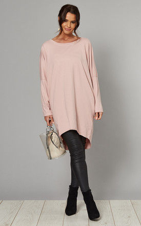 MARGARET Oversized Long Sleeve Top in Pink by Blue Vanilla