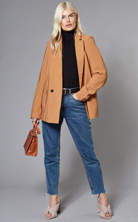 Double Breasted Blazer in Camel by VM