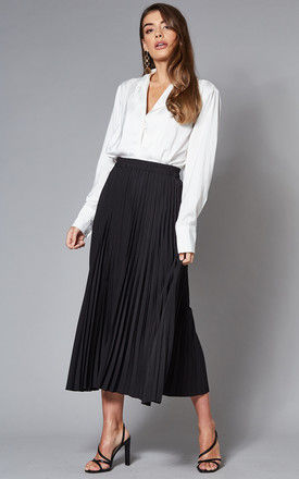 Midi Pleated Skirt in Black by Selected Femme
