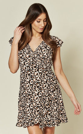 Rica dress in Pink Panther Leopard Print by Motel