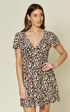 Elara dress in Pink Panther Leopard Print by Motel