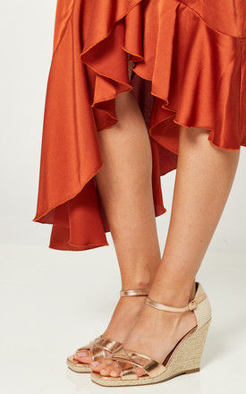 Rose Gold Cross Over Wedges by Truffle Collection