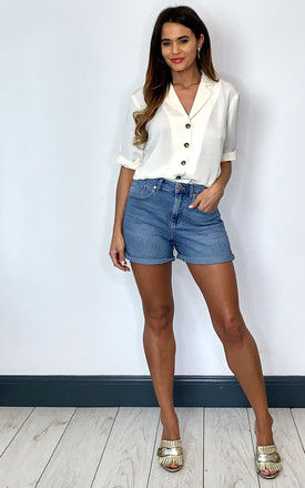Denim Shorts in Light Blue by ONLY