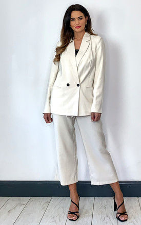 Double Breasted Blazer in Cream by VM