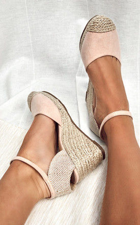 Nude Closed Toe Espadrille Wedges by Truffle Collection
