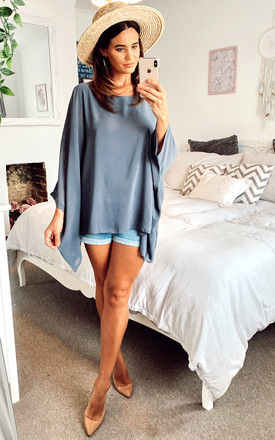 Grey Batwing Top by Bella and Blue