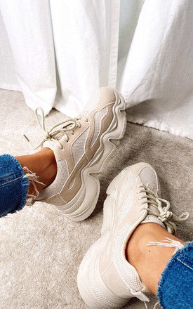 Chunky Trainers in Beige by Truffle Collection