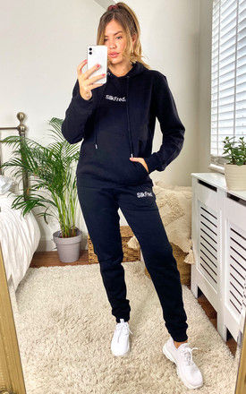 SilkFred Logo Tracksuit in Black by Shop SilkFred