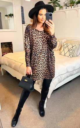 Batwing Top in Leopard Print by Bella and Blue