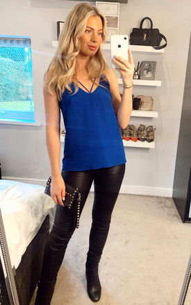 Blue Cami Top by MISSTRUTH