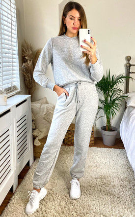 Jogging Bottoms With Noisy May Logo In Light Grey by Noisy May