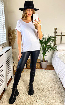 Short Sleeve Round Neck Tee - White by ONLY