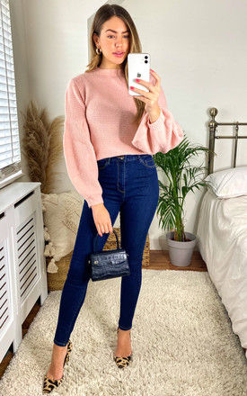 High Waisted Skinny Jeans in Blue by FreeSpirits