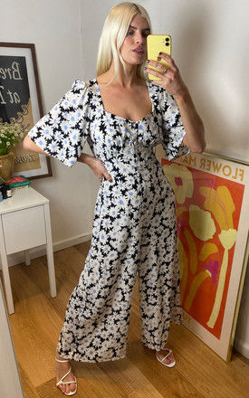 Black and White Daisy Winnie Jumpsuit by Nobody's Child