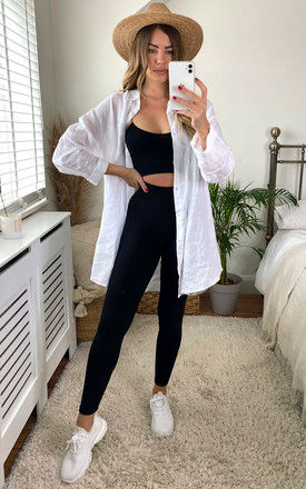 FULL LENGTH SOFT TOUCH BLACK HIGH WAIST LEGGING in black by LOES House