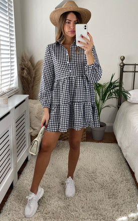 Oversized Checkered Smock Dress by Cutie London