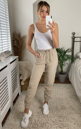 Jogger style trousers in Nude by ONLY